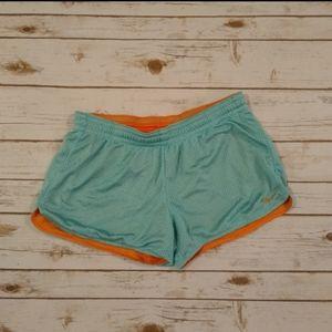Nike Women's Teal/Orange Running Shorts